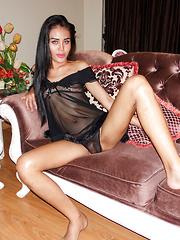 Pretty Eyes Black Babydoll Bareback