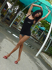 Sexy thai ladyboy picked up in Pattaya park
