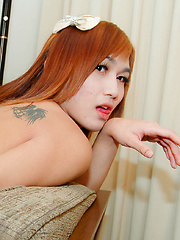 Hung ladyboy takes some serious hard cock