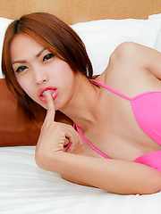 Ladyboy soda has her ass spunk filled