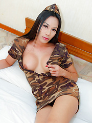 Tall dark ladyboy takes some serious dicking