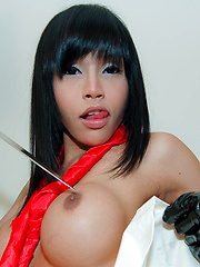 Cosplay ladyboy gets fucked by hung daddy