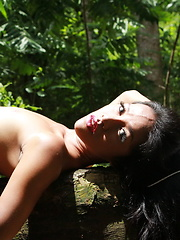 Romantic encounter with a naturist ladyboy in the tropical forest