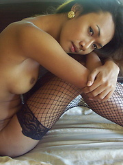 Busty ladyboy spreading her ass cheeks and beating her meat till cuming