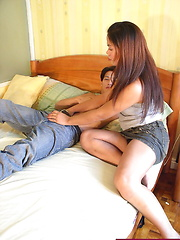 Shemale deeply banged before receiving a load of jizz on her face