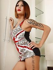 Ladyboy Benzey Union Jack Dress