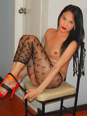 Angela: Black Stockings