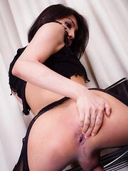 Beautiful Sofie Strokes Her Cock!