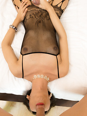 Big Dick Sex in a Black Lingerie Bodysuit