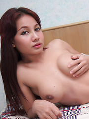 Teen Asian transsexual with Magnificent Tits and Cock